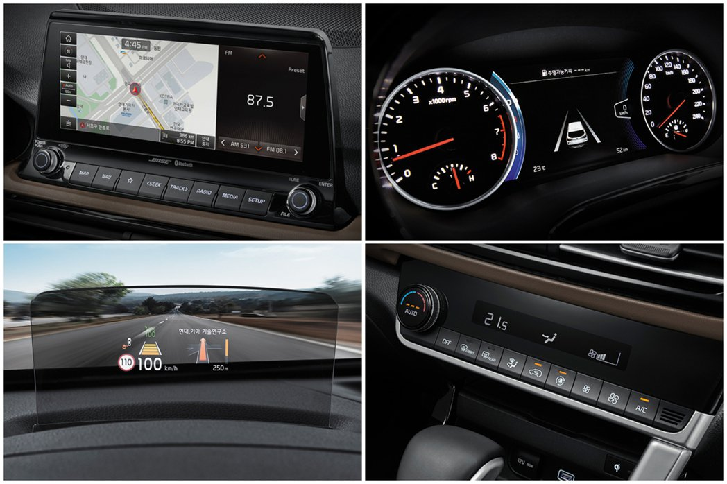 全新Kia Seltos在高階車型中配置了10.25吋懸浮式觸控螢幕,即便是中階...
