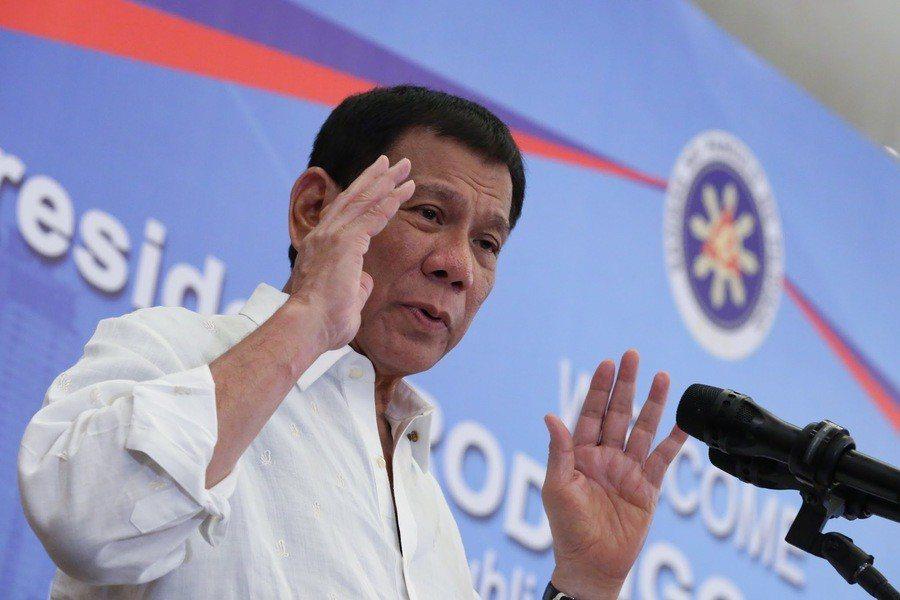 菲律賓總統杜特蒂宣稱,反毒戰有成效,毒品正在減少中。(photo by Wiki...