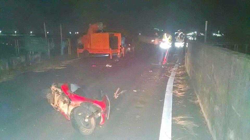 郭姓年輕人疑因撞上抽水機水管傷重,送醫不治,這也是丹娜絲颱風未過境,造成的傷亡。...