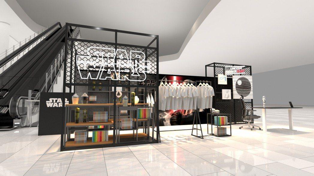 南台灣第一站快閃店將在南紡購物中心登場,有許多結合電影主題特色商品。記者陳俞安/...