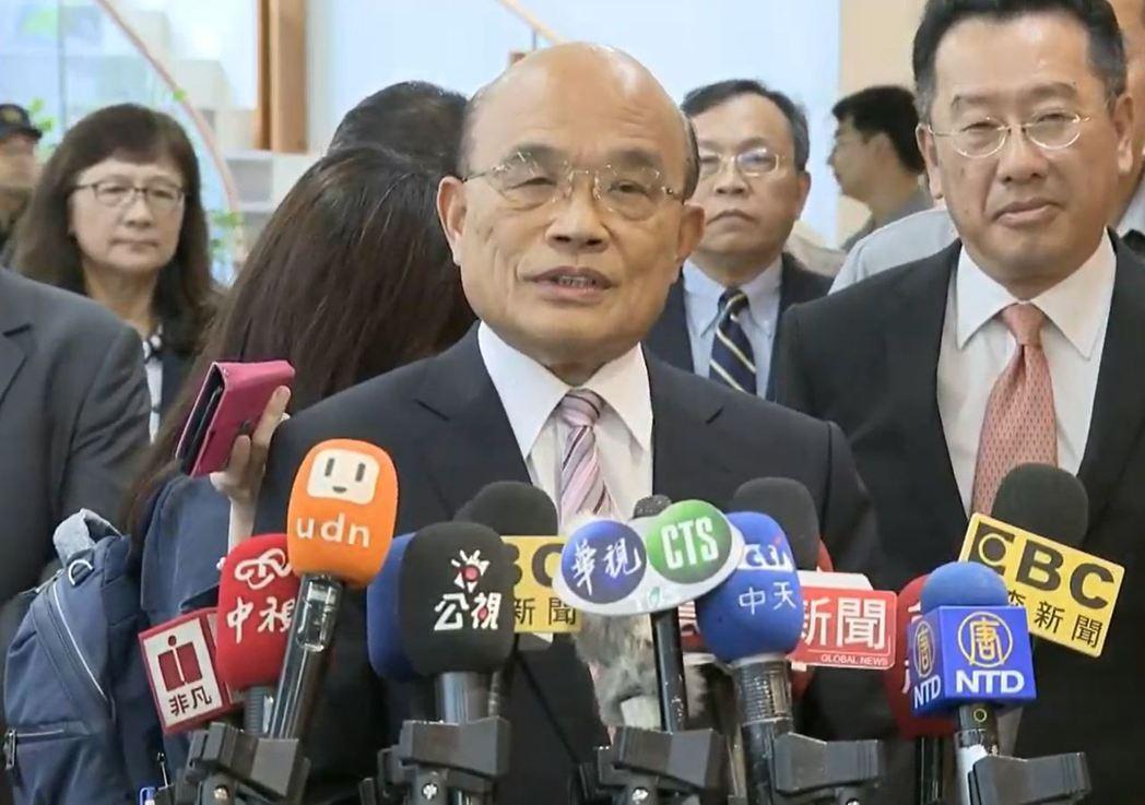 對於台北市長柯文哲連嗆2次「不要臉」,行政院長蘇貞昌下午出席「信託業辦理高齡者及...