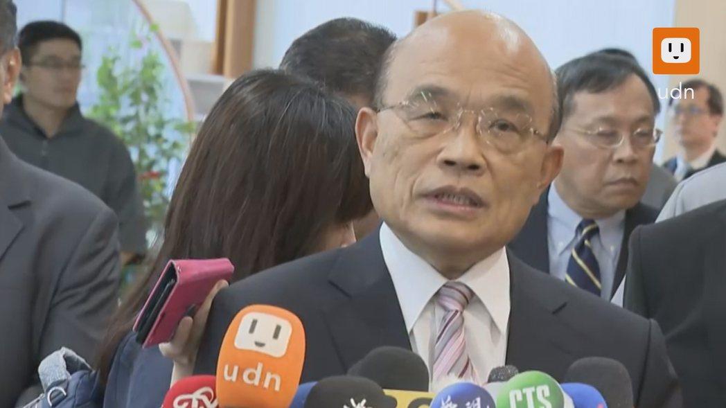 行政院長蘇貞昌呼籲大家一起警惕假訊息。記者龔盈全/攝影