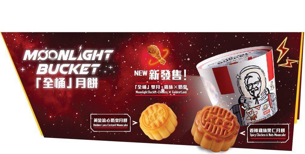香港肯德基推出「全桶」月餅。圖/摘自香港肯德基官網