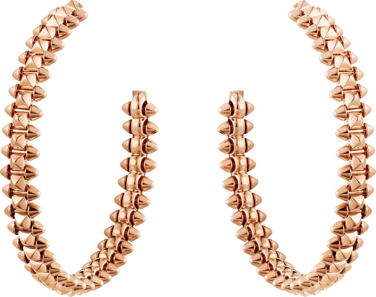 Clash de Cartier系列玫瑰金耳環中型款,23萬元。圖/卡地亞提供