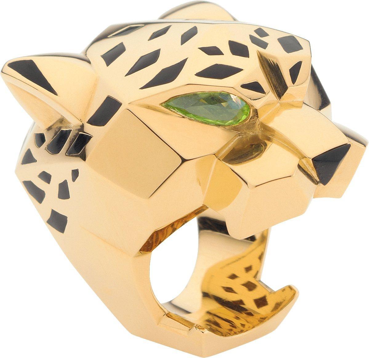 Panthère de Cartier美洲豹系列豹頭戒指,74萬5,000元。...