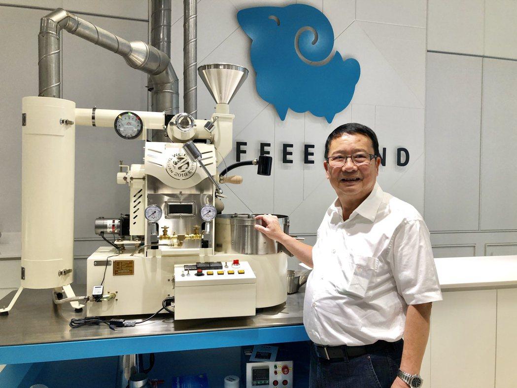 正瀚生技董事長吳正邦宣布,正瀚「Coffee Land咖啡中心」正式啟用。記者宋...