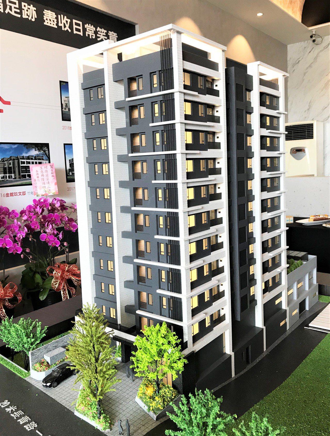 金鋐微一規劃獨棟建築、單層6併,28-35坪,全區3房,二樓以上共有56戶純住宅...