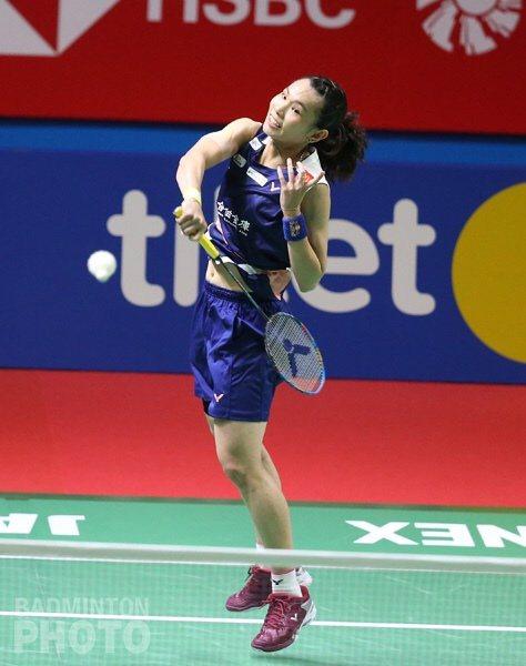戴資穎逆轉晉級8強。圖/Badminton Photo提供