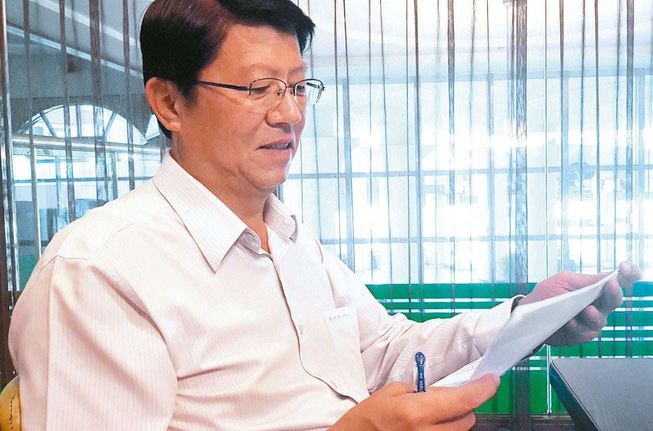 國民黨台南市黨部主委謝龍介秀出所謂「國安」資料,指國安單位藉手機定位掌握造勢參與...