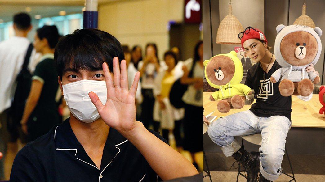 韓國「國民歐巴」李昇基、登坂廣臣。記者鄭超文/攝影、擷自推特