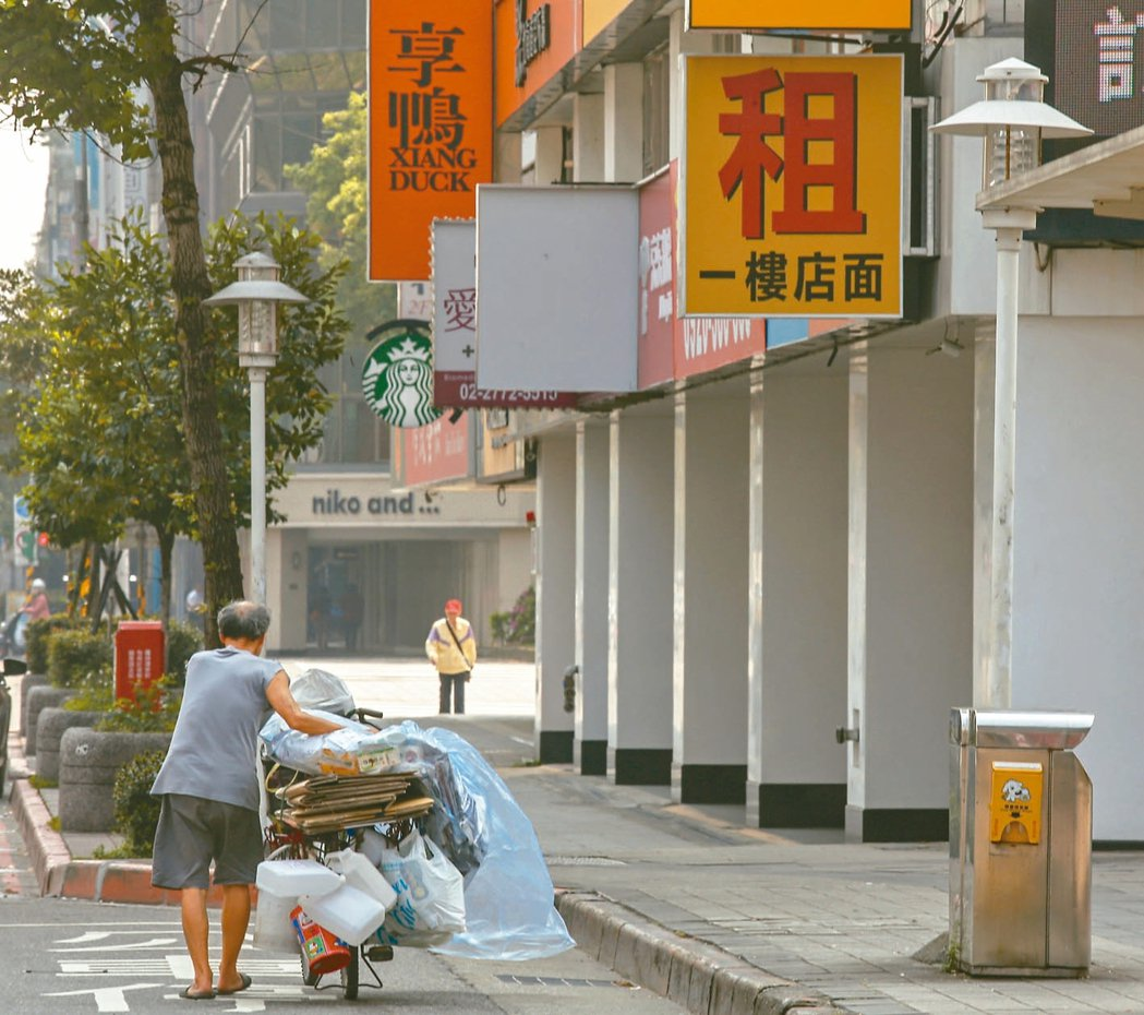 台北市店面第一季每坪成交均價97萬,創2013年以來新低。 本報資料照片
