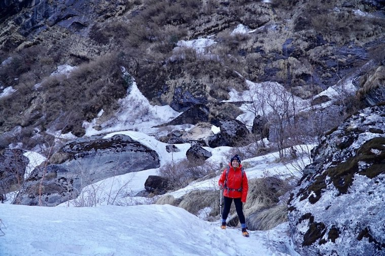 賴靜嫻近年還陸續完成騎腳踏車40公里、挑戰爬4千公尺的尼泊爾健行步道安娜普娜基地...
