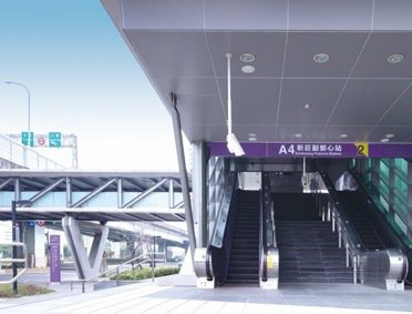 「遠雄國滙」步行3分鐘即可到捷運機場線新莊副都心站。 圖/遠雄國滙 提供