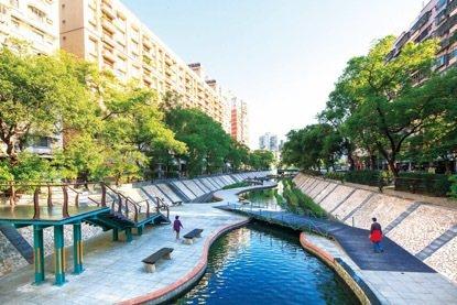 「遠雄國滙」步行6分鐘就有2.3公里中港大排綠堤河廊,是親水休閒好去處。 圖/遠...