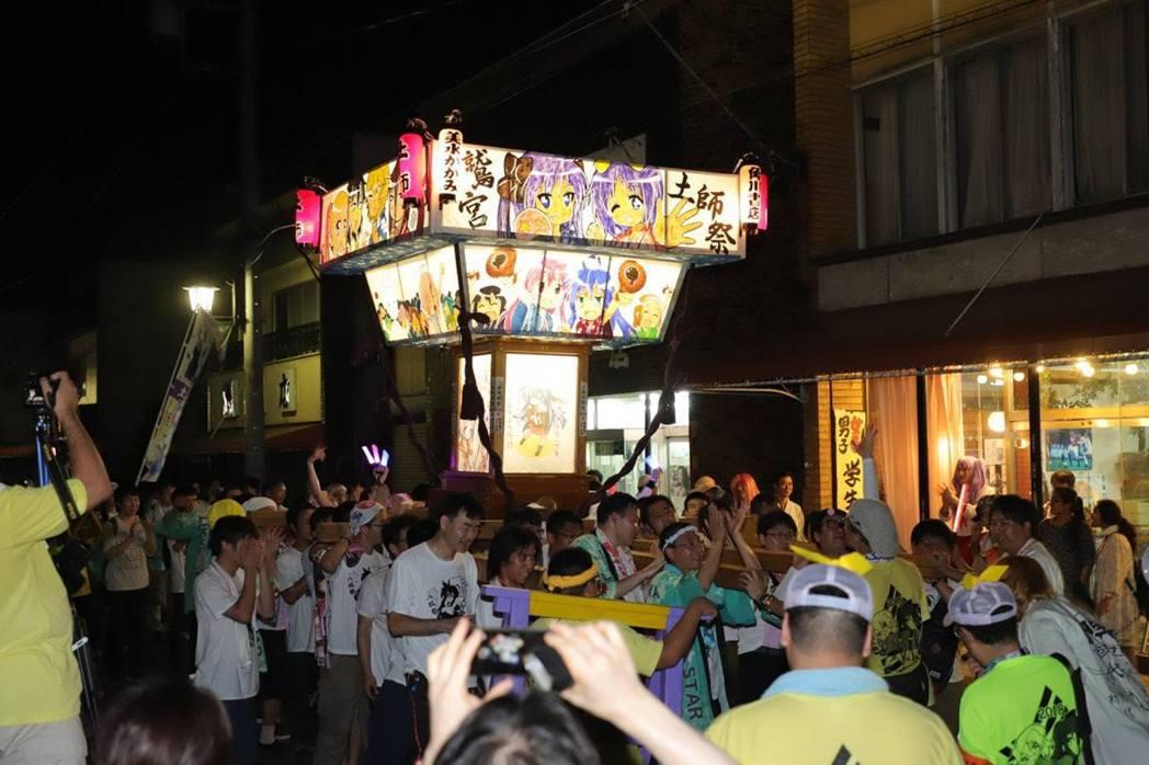 2018年鷲宮神社八坂祭的Lucky Star神輿
