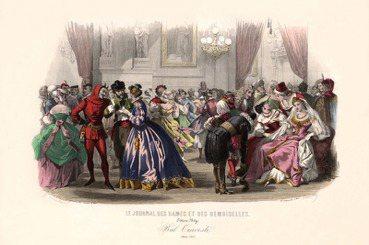 版畫裡的巴黎百年服裝演化史(下):舞會是時尚的最前線