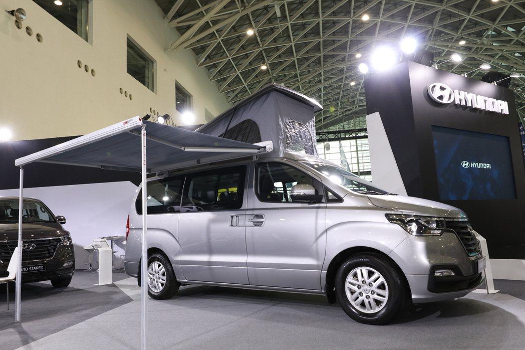 全新HYUNDAI GRAND STAREX掀頂露營車登場。 圖/南陽實業提供