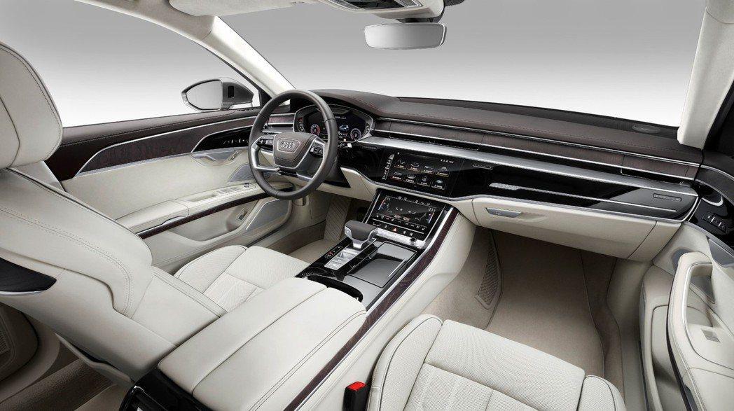 Audi A8 車室。 圖/Audi提供