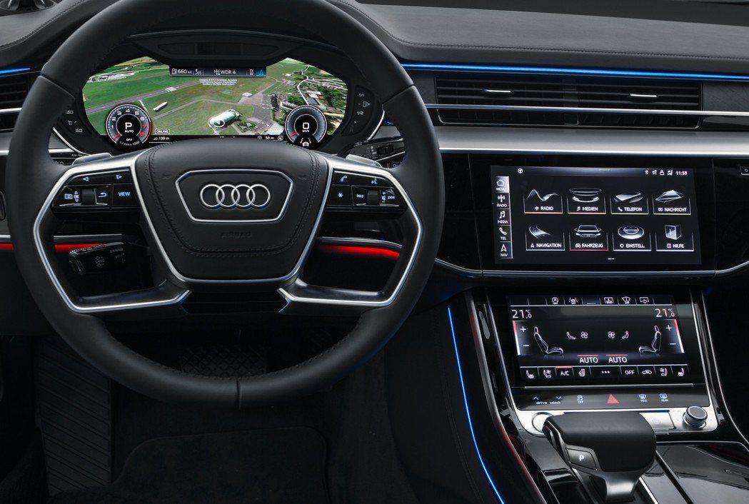 Audi A8 MMI touch response直覺式觸控系統。 圖/Aud...