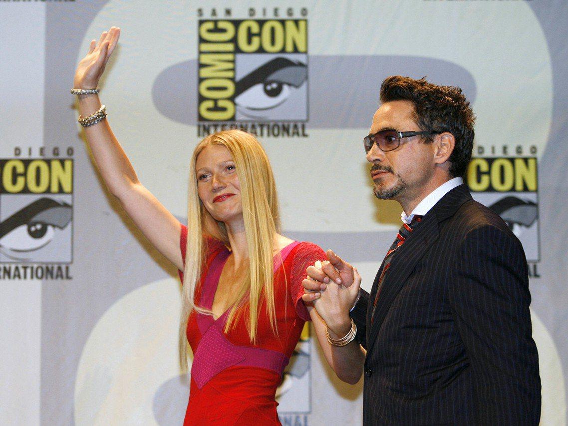 圖為2007年的SDCC大會上,漫威發表了小勞勃道尼(Robert Downey...