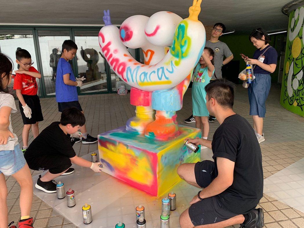 LAKE UP湖伴塗鴉藝術展。 澳門旅遊局/提供