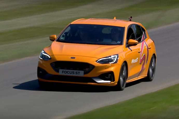 影/全新Ford Focus ST現身英國Goodwood速度節!
