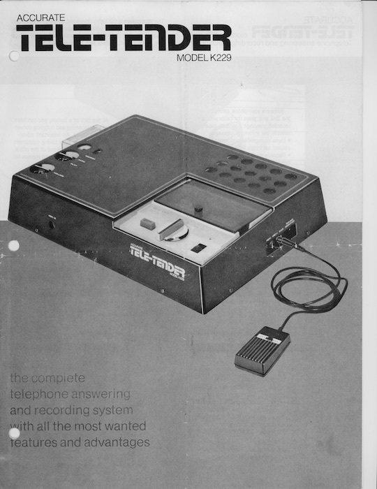 電話答錄機(吳三連台灣史料基金會提供)