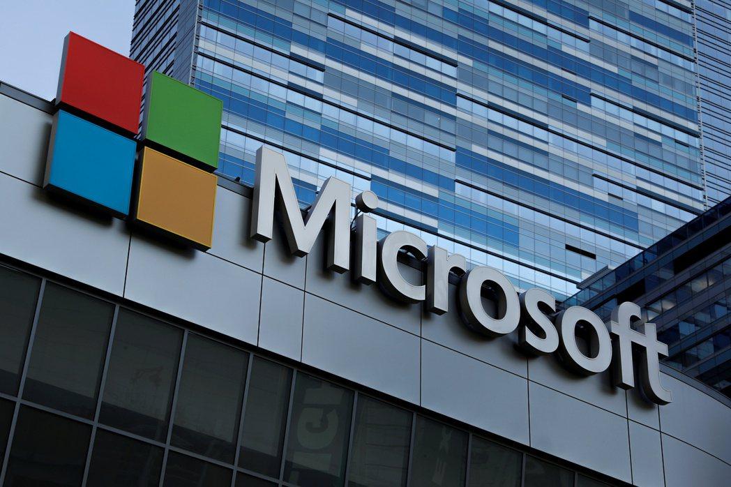 微軟上季營收與獲利均優於預期。  路透