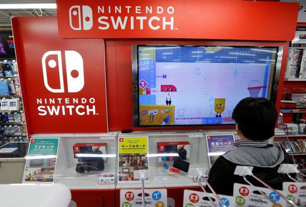 任天堂在陸販售Switch,但將部分生產線從中國離到越南。(路透社)