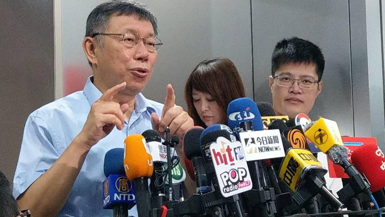 台北市長柯文哲上午受訪。記者楊正海/攝影