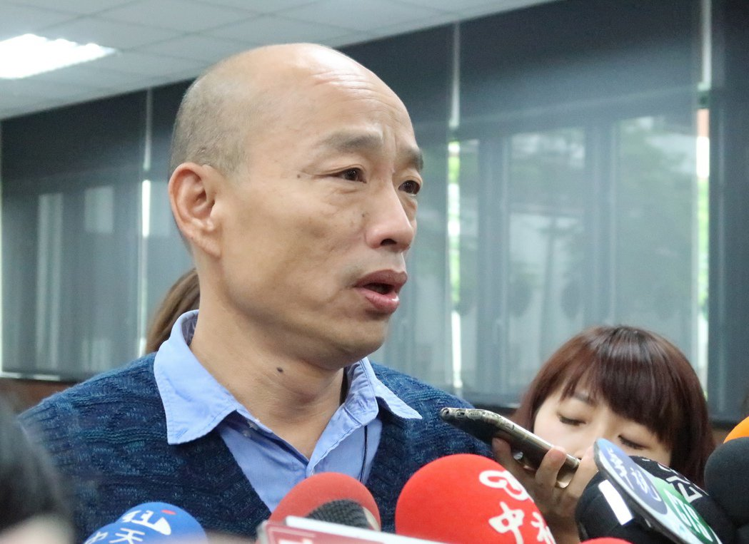 高雄市長韓國瑜表示,誰想消滅中華民國?一個是中共、一個是台獨。記者徐如宜/攝影
