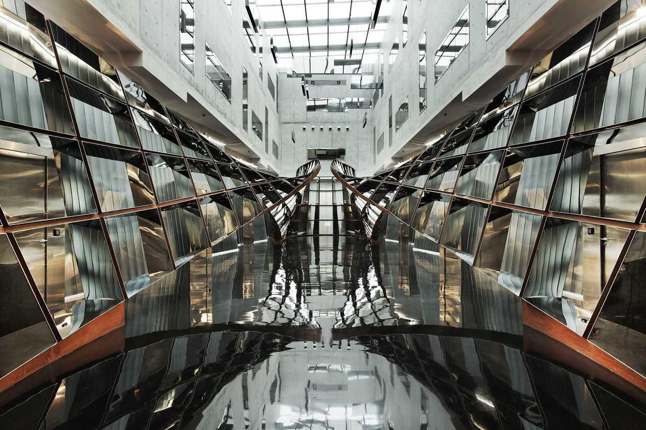 新加坡樟宜機場旁自由港區免稅倉儲服務的大廳。該倉儲服務正尋求轉手。路透社