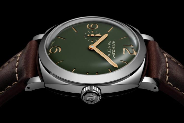 RADIOMIR綠面45毫米精鋼腕表PAM00995,34萬3,000元。圖/沛...