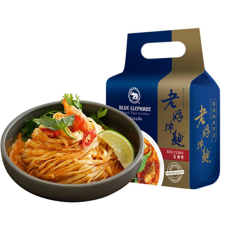 老媽拌麵藍象系列2袋組,momo購物網獨家贈單包蔥油開洋,活動優惠價496元。圖...