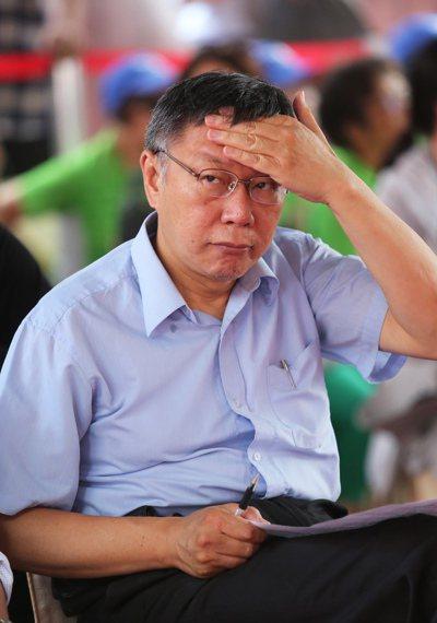 台北市長柯文哲昨天表示,台灣走到現在這地步「只有草包、菜包可以選擇」,實在真糟糕...