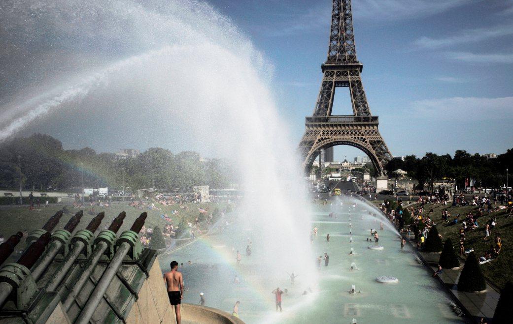 法國6月熱浪期間創史上最高氣溫紀錄。 美聯社