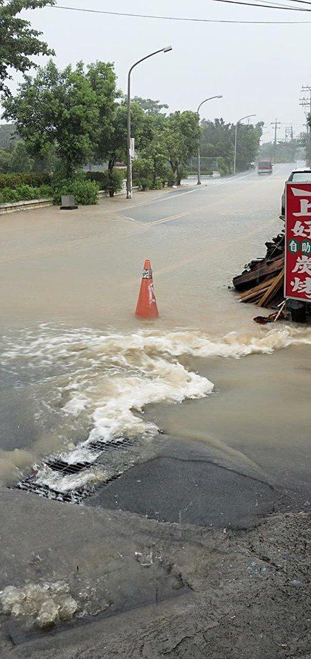 屏東縣離島小琉球今天截至中午12時,雨量冠全台達148毫米。圖/小琉球聯盟