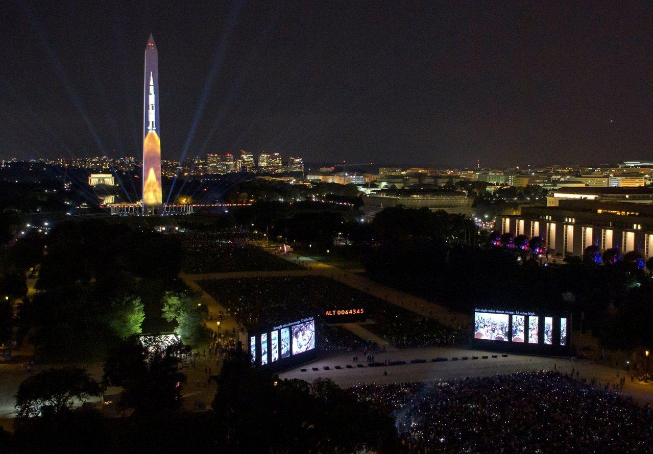 華府國家廣場舉辦阿波羅11號50週年紀念活動。 歐新社