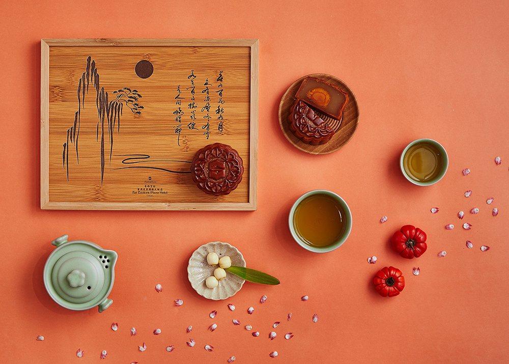【璽月典藏】清新脫俗的水墨畫搭配古典色系,風格雅緻的限量款木質禮盒,品嘗美食與實...