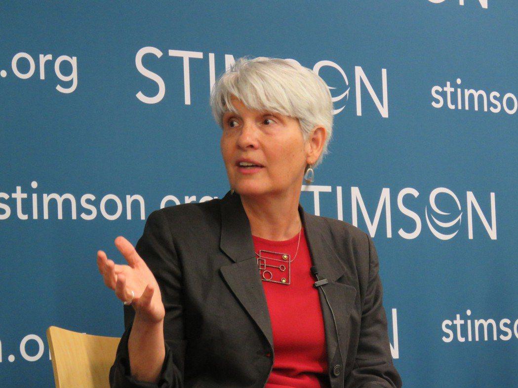 美國戴維森學院政治學教授任雪麗。華盛頓記者張加/攝影