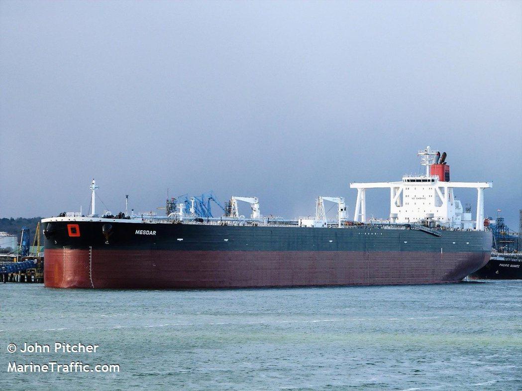 英國油輪Mesdar遭伊朗短暫扣押,隨後獲放行。 路透