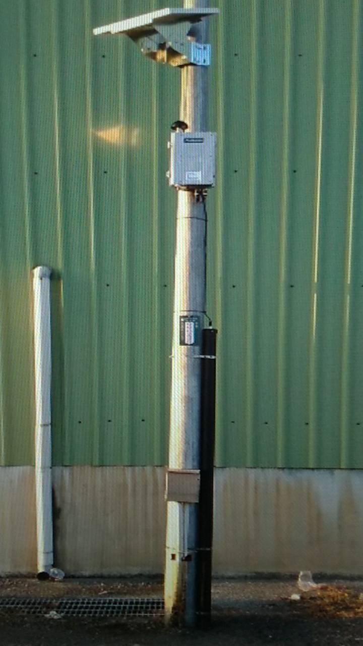 水利署第五河川局管轄雲嘉南地區治水採用科技防災預警,在易淹水區設34處淹水感知器...