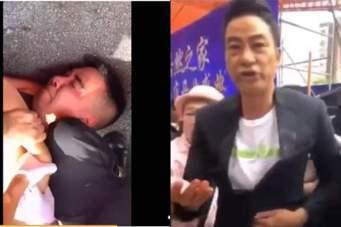 有人拍到攻擊任達華的兇手長相。圖/摘自微博王永茹Winni