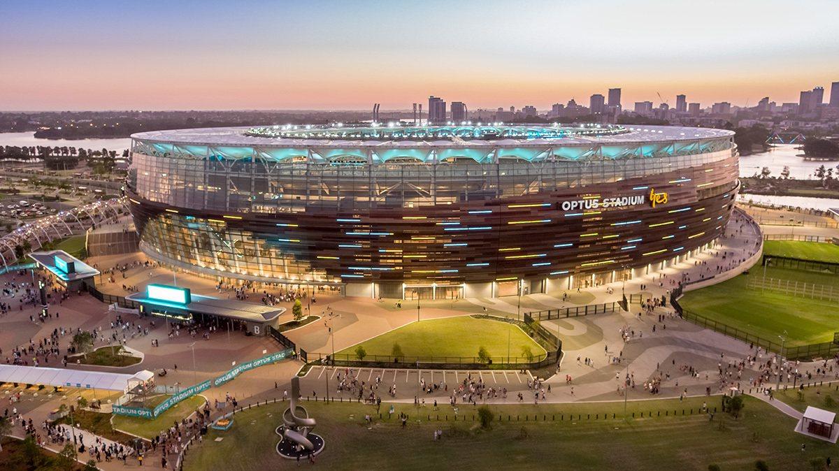 2018年啟用的伯斯體育場為西澳帶來許多商機。取自伯斯體育場(Optus Sta...
