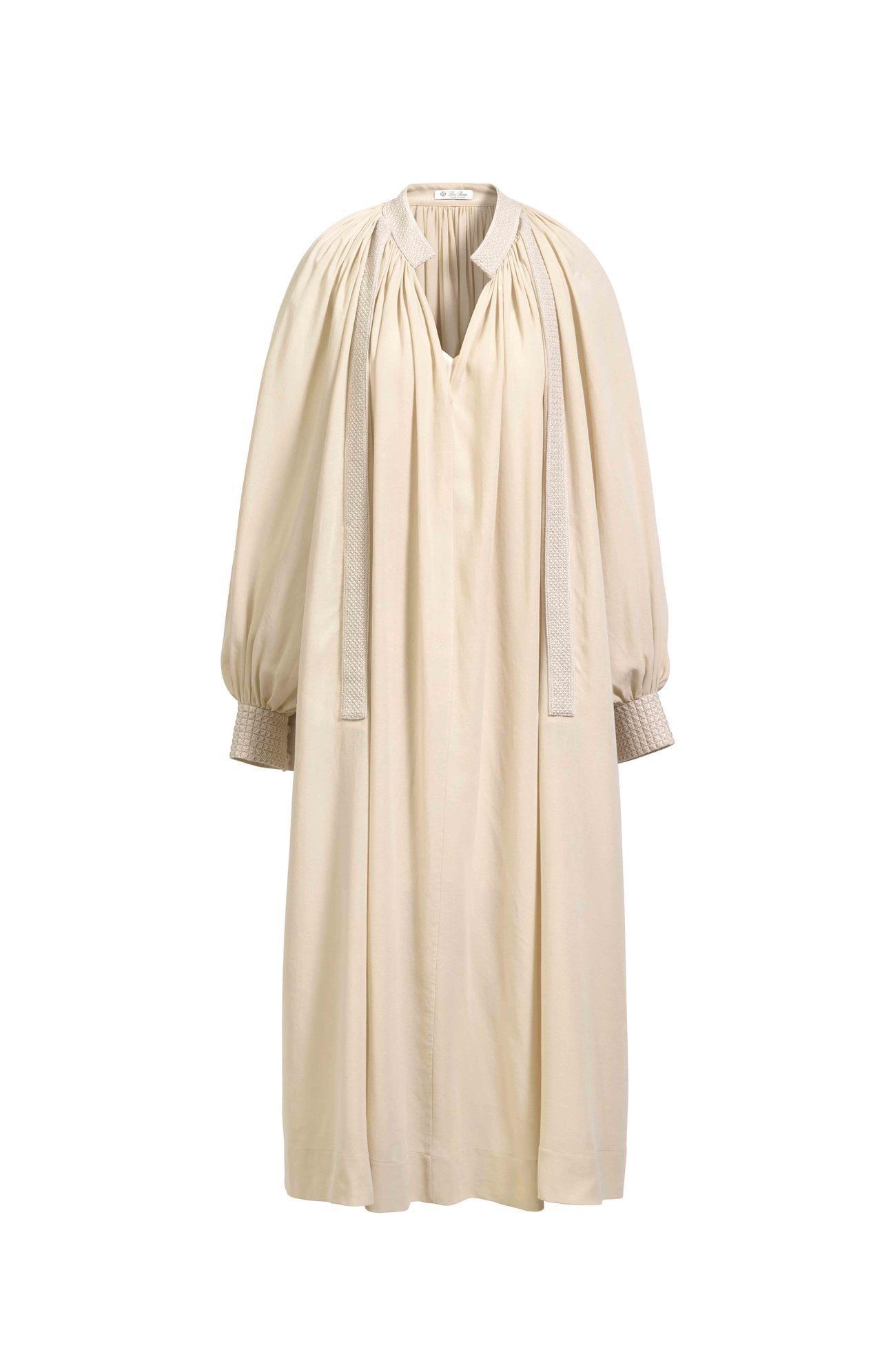 張鈞甯選穿的Loro Piana Lisa棉紡絲綢連身裙,售價10萬5,700元...