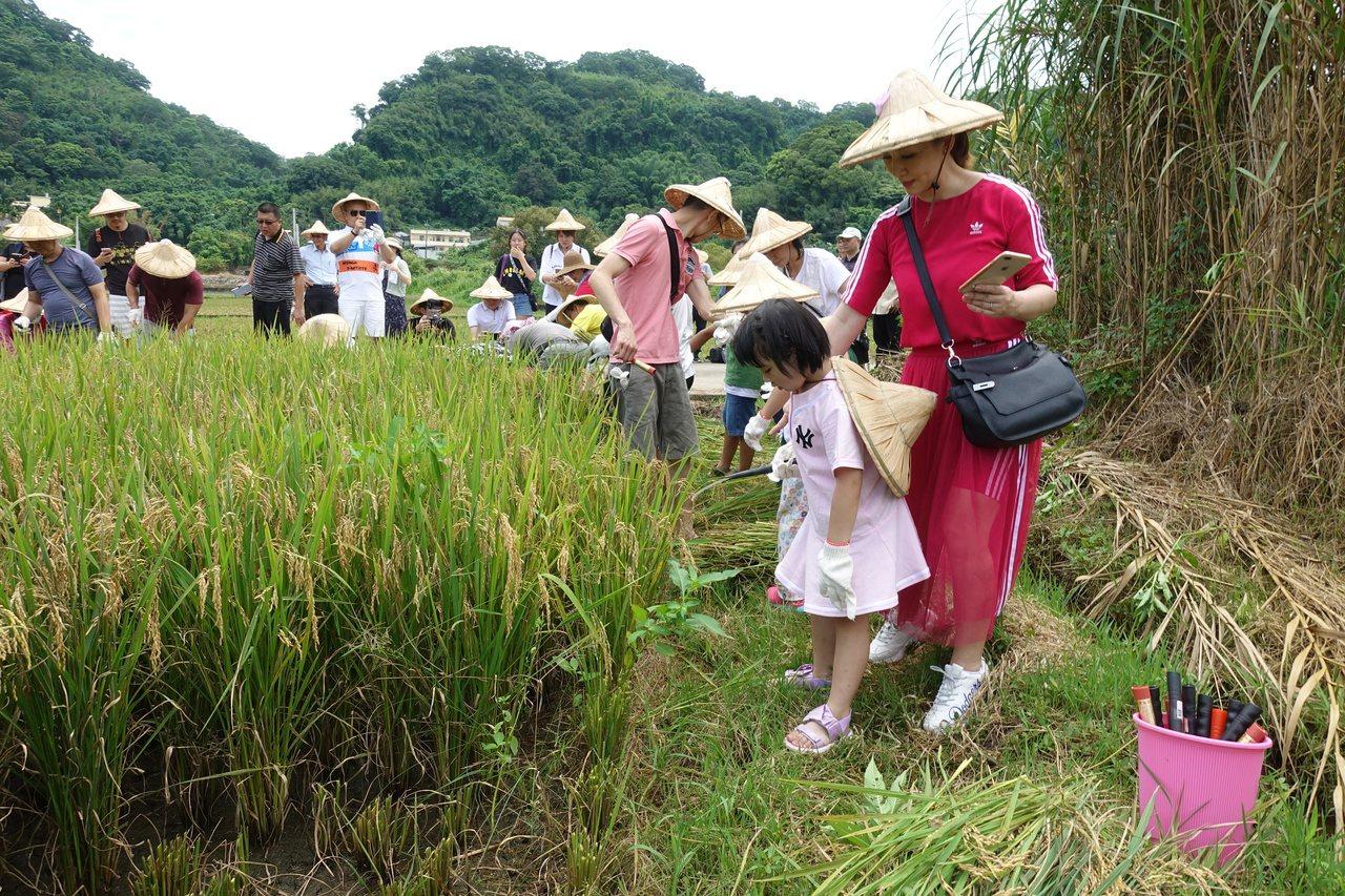 參與認購的企業中,斐儷珠寶總經理陳昱義與妻子郁方(右,粉紅色衣服者),帶著小朋友...