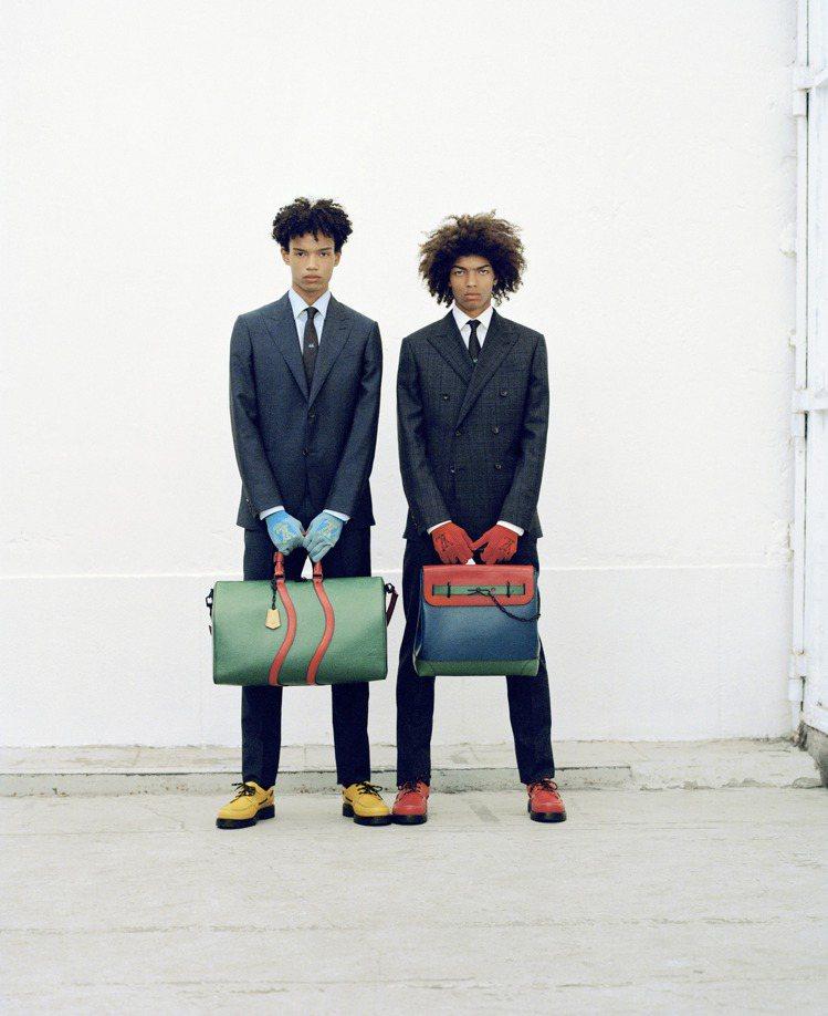色彩飽和的手袋成為2020早春男裝的一大亮點。圖/LV提供