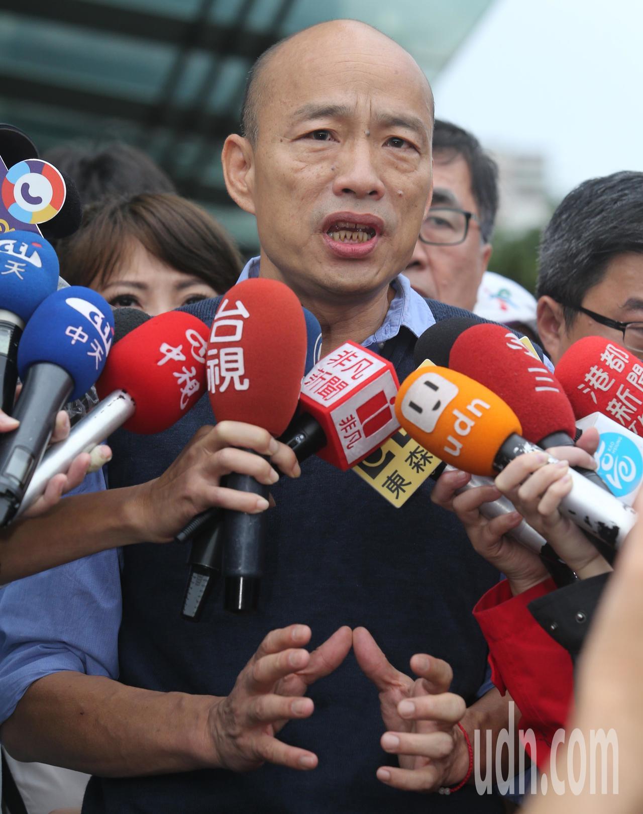 韓國瑜表示這次高市淹水雨量太大,全市雖有多處積水,但是很快就逐漸消退,這也顯示他...