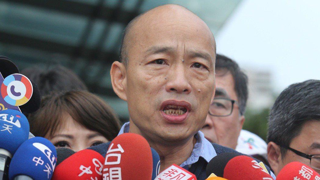 高雄市長韓國瑜向中央喊話,盼中央給高雄大雨受災戶的補助,在高雄市的1萬5000元...