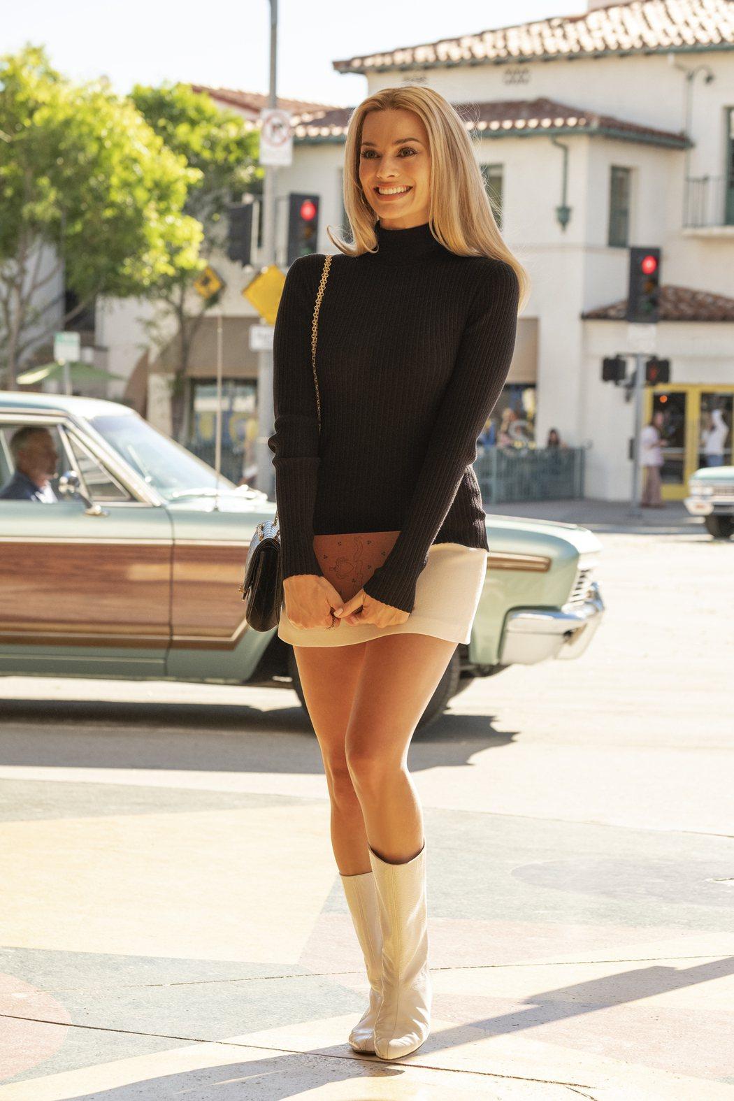 瑪格羅比在「從前,有個好萊塢」飾演女星莎朗蒂。圖/双喜提供